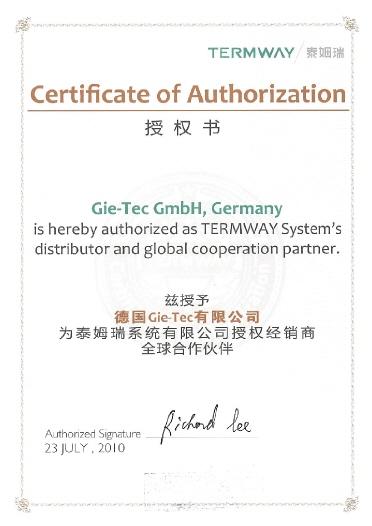 Termway Zertifikat