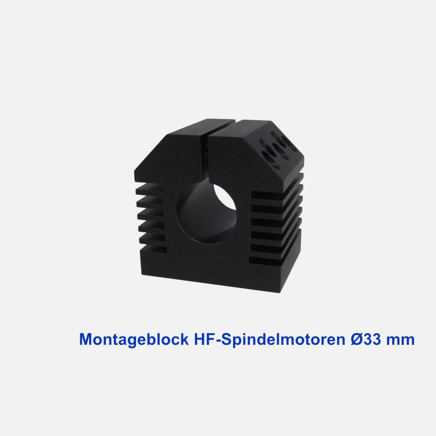 Montageblock HF-Spindelmotoren