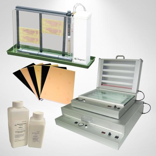 Ätzgeräte, Belichten und Basismaterialien