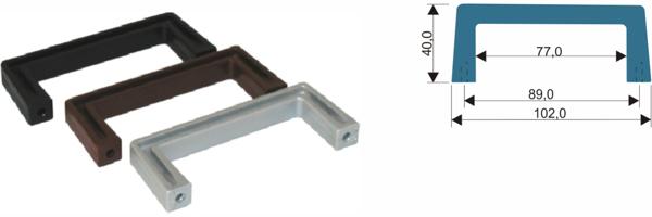 ABS-Gerätegriffe mit Abmessungen